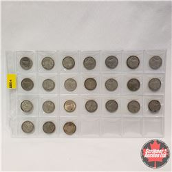 Canada Ten Cent - Sheet of 24: 1939; 1940; 1943; 1944; 1945; 1949; 1951; 1953; 1955; 1957; 1959 (2);