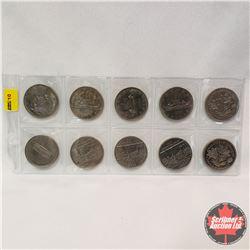 Canada One Dollar (10): 1968 (4); 1970 (2); 1973; 1982 (3)