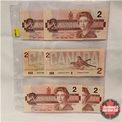Canada $2 Bills 1986 : Sheet of 6