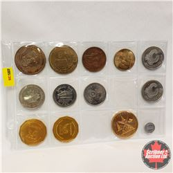 Tokens - Variety : Sheet of 13
