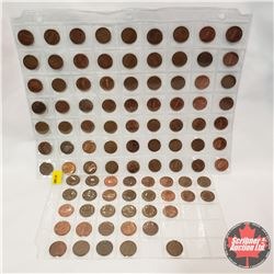 Canada One Cent - Sheets (95): 1942; 1958; 1960; 1961 (4); 1963; 1964 (3); 1966; 1967 (2); 1968 (3);