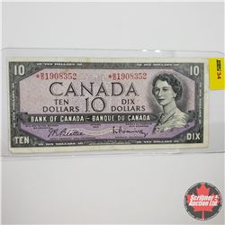 Canada $10 Bill 1954 Replacement S/N#*BD1908352 Beattie/Rasminsky