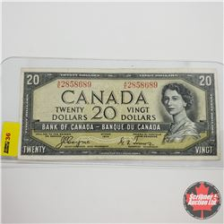 Canada $20 Bill 1954DF S/N#AE2858689 Coyne/Towers