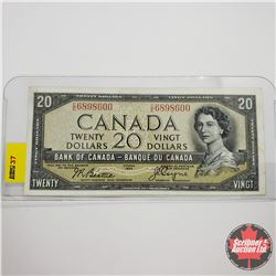 Canada $20 Bill 1954DF S/N#CE6898600 Beattie/Coyne