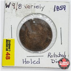 Canada Large Cent 1859 (Holed)