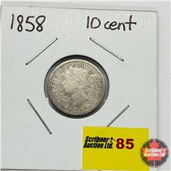 Canada Ten Cent 1858