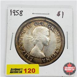 Canada One Dollar 1958