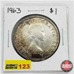 Canada One Dollar 1963