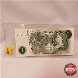Bank of England One Pound (E21N779665)