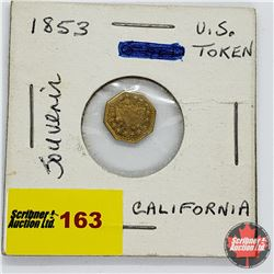"""California Gold"" Souvenir 1853 Token"