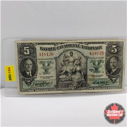 Banque Canadienne Nationale $5 Bill 1935 : S/N#418126