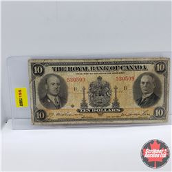 The Royal Bank of Canada $10 Bill 1935 : S/N#530509