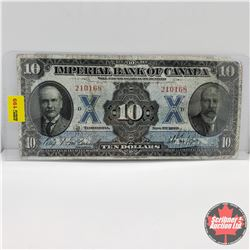 Imperial Bank of Canada $10 Bill 1923 : S/N#210168