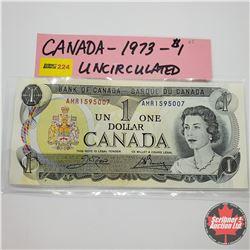 Canada $1 Bill 1973 S/N#AMR1595007