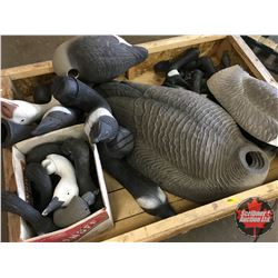 Large Variety of Decoy PARTS - CRATE LOT!
