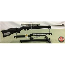 Rifle: Ruger 22LR Model 10/22 - Semi-Auto - Stainless w/Scope S/N#822-84325