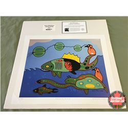 "Limited Edition Prints CHOICE of 5: Morrisseau ""Past Life Man As Fish"" 48/99"