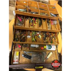 Fenwick Tackle Box w/Contents (Spoons, Jigs, etc)