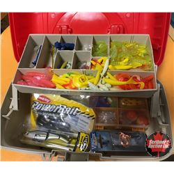 Plano Tackle Box w/Contents (Jigs, Crank Baits, Spinner, etc)