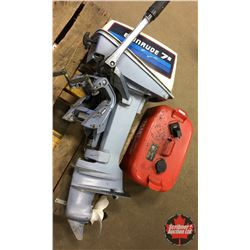 Evinrude 7.5hp Outboard Motor - Tiller Control w/Fuel Tank