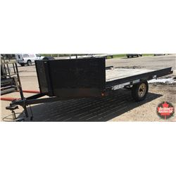 2011 Rainbow Express Single Axel Sled Trailer V-Nose