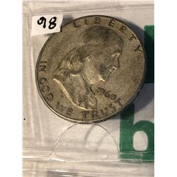 1960 D Silver Franklin Half Dollar Nice US Silver Coin