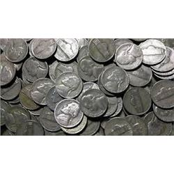 Bag of 5 Total Assorted Silver WWII US Nickels