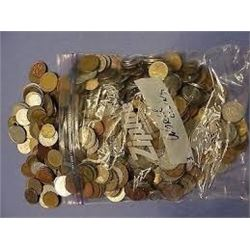 1 Pound Bag of World Coins out of Estate Box