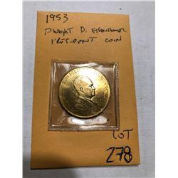 1953 Dwight D Eisenhower President Coin