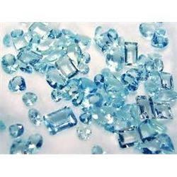 Bag of 5 AQUAMARINES GEMSTONES that came out of Safe Box Assorted Carat Weights GEM Quality