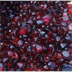 Bag of 5 BLOOD RED GARNET GEMSTONES that came out of Safe Box Assorted Carat Weights GEM Quality