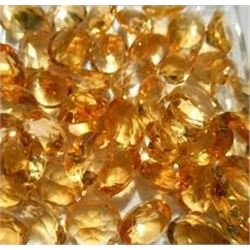 Bag of 5 GOLDEN CITRINES GEMSTONES that came out of Safe Box Assorted Carat Weights GEM Quality