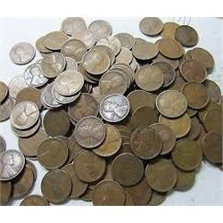 Roll of Unsearched Teens 20s and 30s Wheat Pennies 50 total Assorted Mints and Grades
