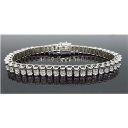 14KT White Gold 6.00ctw Diamond Bracelet