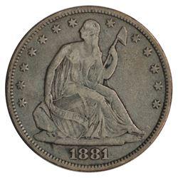 1881 Seated Liberty Half Dollar Coin