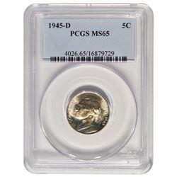1945-D Jefferson Nickel PCGS MS65