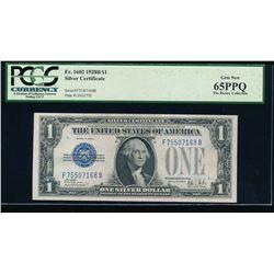 1928B $1 Silver Certificate PCGS 65PPQ