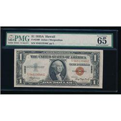 1935A $1 Hawaii Silver Certificate PMG 65