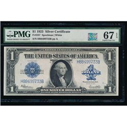 1923 $1 Silver Certificate PMG 67EPQ