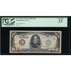 1934A $1000 Chicago Federal Reserve Note PCGS 25