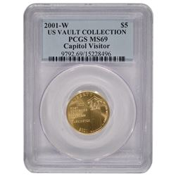 2001-W $5 Capitol Visitor Center Gold Coin PCGS MS69