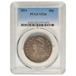1814 Capped Bust Half Dollar PCGS VF20