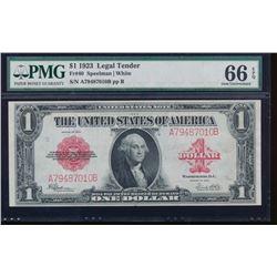 1923 $1 Legal Tender Note PMG 66EPQ