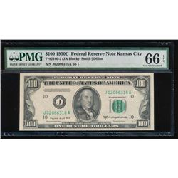 1950C $100 Kansas City Federal Reserve Note PMG 66EPQ