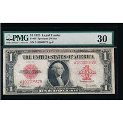 1923 $1 Legal Tender Note PMG 30