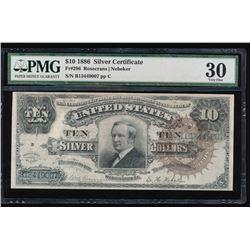 1886 $10 Silver Certificate PMG 30