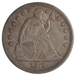 1871 Seated Liberty Dollar Coin