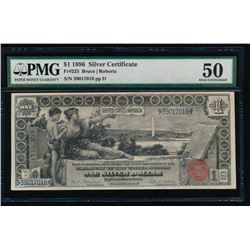1896 $1 Educational Silver Certificate PMG 50