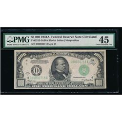 1934A $1000 Cleveland Federal Reserve Note PMG 45