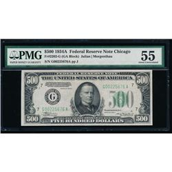 1934A $500 Chicago Federal Reserve Note PMG 55